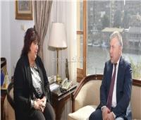 وزير الثقافة تلتقى سفير ارمينيا بالقاهرة