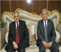 محافظ المنوفية يسقبل وزير الموارد المائية والري