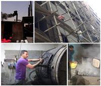 صور| عمال السقالات والنفايات الطبية والدباغة.. بين مطرقة «أكل العيش» وسندان المخاطر