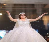 صور| دينا فؤاد ترتدي أحدث فساتين زفاف 2019