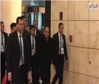 فيديو| لحظة وصول الرئيس السيسي إلى مقر إقامته في بكين