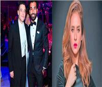 تعليق نيللي كريم على صورة رامي مالك ومحمد صلاح