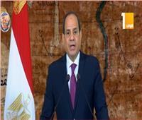 فيديو| السيسي: تحرير سيناء برهاناً علىتضحيات العسكرية المصرية