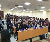 وفد جامعة جياوتونج يشيد بتميز الجامعة المصرية الصينية