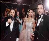 صور| مصطفى حجاج يُشعل زفاف «بحري ودينا»