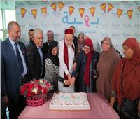 علي جمعة يزور مستشفى «بهية» ويدعم مريضات سرطان الثدي