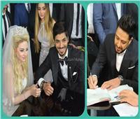 صور| حماقي يوقع على عقد قران علي جبر.. ويُحيي زفافه
