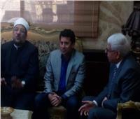 وزيرا الرياضة والأوقاف ومحافظ شمال سيناء يتفقدون مدينة العريش