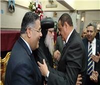صور| محافظ البحيرة ومدير الأمن يهنئان الإخوة المسيحيين بعيد القيامة