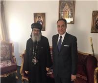 الأنبا أباكير يستقبل السفير المصري للتهنئة بعيد القيامة
