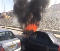 السيطرة على حريق شب داخل سيارة ملاكي بطريق السويس الصحراوي