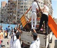 شرطة مرافق الجيزة تواصل حملاتها لرفع الإشغالات