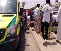 حادث مروري يوقف الحركة على طريق السويس الصحراوي