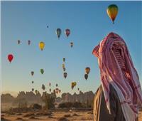 بالصور والفيديو  الاتحاد السعودي يطلق 100 منطاد بمدينة العلا