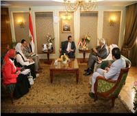 وزير التعليم العالي يستقبل السفير العراقى بالقاهرة
