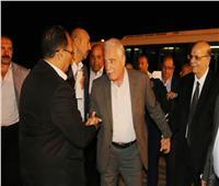 فودة يودع وزير النقل بمطار شرم الشيخ الدولي