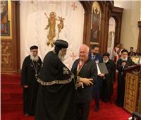 البابا تواضروس يكرم عددًا من رموز دوسلدروف الذين خدموا الكنيسة
