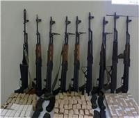 ضبط 4 أسلحة نارية وكمية من المخدرات بحملة أمنية بكفر الشيخ