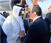 عاجل  ولي عهد أبو ظبي يغادر القاهرة بعد لقاء الرئيس السيسي