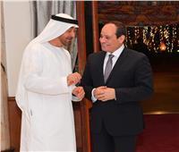 صور| الرئيس السيسي يودع الشيخ محمد بن زايد في ختام زيارته لمصر