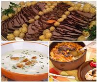 فطارك عندنا| روستو اللحم - أرز معمر بالقشطة - شوربة الثوم بالكريمة