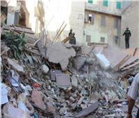 إنقاذ مسنة عقب انهيار سكنها بالإسكندرية