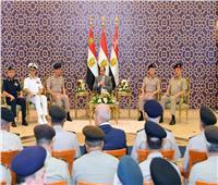 «السيسي»: الجيش والشرطة يذودون بأرواحهم ودمائهم دفاعا عن الوطن