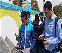 امتحانات الصف الأول الثانوي  21 مدرسة في السويس أدوا اللغة العربية على «السيستم»