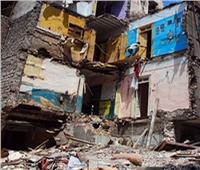 إنقاذ 5 أسر من الموت في انهيار عقار بالإسكندرية