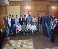 وزير الرياضة يجتمع بمنتخب الجودو قبل سفره إلى الصين