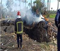 السيطرة على حريق مكمورة فحم في أطفيح