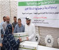 سفارة الإمارات بالقاهرة توزع سلال غذائية على الأسر الأكثر احتياجًا بالجيزة