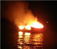 السيطرة على حريق نشب في سفينة بنيل الحوامدية