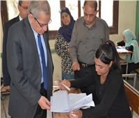 نائب الوزير للتعليم الفني في جولة تفقدية لمتابعة امتحانات الدبلومات الفنية