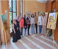 20 لوحة فنية تُزين مكتبة مصر الجديدة