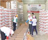 توزيع 500 كرتونة غذائية على الأسر الفقيرة بالمنيا