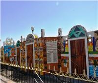 تدشين لوحة جدارية بحديقة «درة النيل» بأسوان