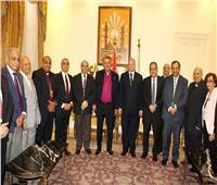 محافظ القاهرة يستقبل وفد الطائفة الإنجيلية للتهنئة بحلول عيد الفطر