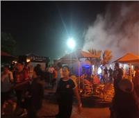 صور| السيطرة على حريق محدود داخل النادي الأهلي بالشيخ زايد