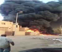 لجنة من جهاز مدينة السادات لمعاينة حريق مصنع البلاستيك