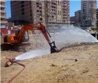 محافظ الإسكندرية: إغلاق الصمامات وإخماد حريق ماسورة الغاز بكرموز