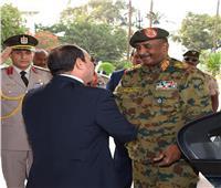فيديو| السيسي يستقبل رئيس المجلس العسكري الانتقالي بالسودان