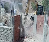 حملات إزالة فورية لأعمال بناء مخالف بحي غرب مدينة أسيوط