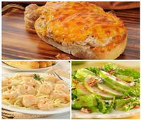 فطارك عندنا | مكرونة بالجمبري والكريمة - خبز بالتونة والجبنة