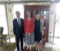 سفيرة مصر في بوروندي تبحث مع نظيرها الياباني سبل التعاون المشترك