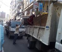 محافظة الإسكندرية تشن حملات لإزالة إشغالات الطريق بأحياء شرق والعامرية