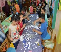 ورشة فنون تشكيلية لأطفال مركز ذوي الاحتياجات الخاصة بجامعة عين شمس