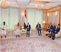 """السيسى يؤكد اعتزاز مصر بالعلاقات الأخوية المتميزة مع """"جامبيا"""""""