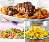 فطارك عندنا| فخدة ضاني بالخضار - الأرز العربي - سلطة خضراء