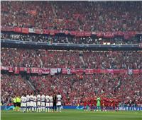 صور| دقيقة صمت في افتتاح مباراة نهائي دوري أبطال أوروبا